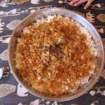 Leckeres Reisgericht mit Fisch